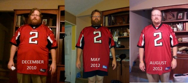 December 2010 to August 9th 2012!  There is more change than just the beard and hair!!!