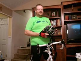 Me and my new bike 'Zero'.