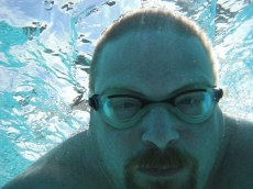 On vacation I swam a mile in the ocean(No waves just calm). My favorite bad ass picture of the event.