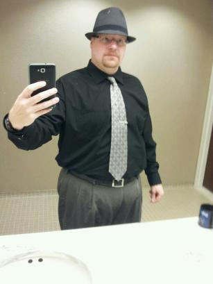 While I did not have to wear a tie, I figured I had worked hard to get in shape, i should dress well also.