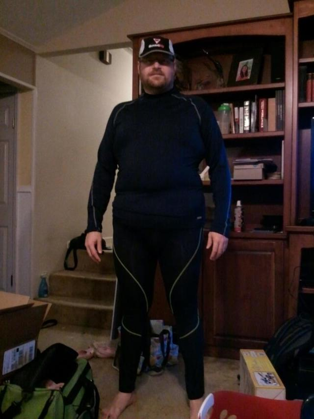 Most recent picture taken in my winter running clothes this past January.