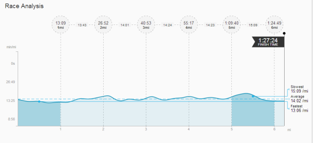 Race break down from strava.