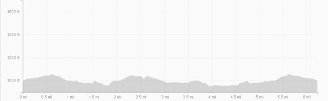 Race elevation profile