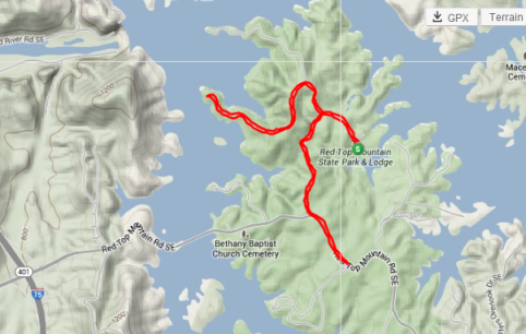 My very steep Saturday run map.