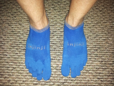 These socks are like gloves for the feet.