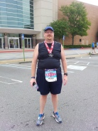 Finished my first 15k or 9.3 Mile race!