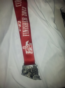 A really cool finisher's medal was given at the finish.