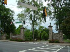 The gates of Piedmont Park.