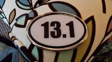 After the race my friends caught up to me and gave me an early Christmas present.  My own 13.1 car sticker.