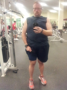 Attempt at taking a selfie at the gym.