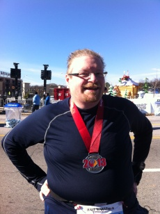 24 Degrees out and after 13.1 miles and 3:13:00 official time I completed my first half marathon.