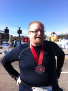 I surprised myself and finished my first half marathon on Thanksgiving day.