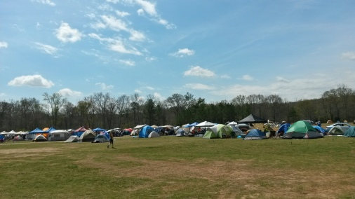 On Thursday this looked a bit empty. On Friday there were tents setup everywhere.  At times it felt like tail gating.