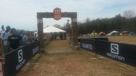 The finish line chute.