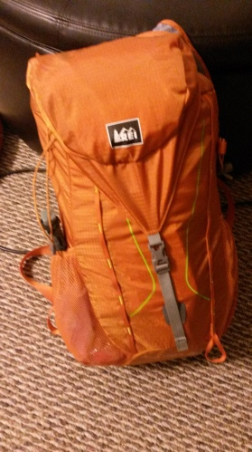 "My new pack ""Hawk"", a small 22 liter daypack that I plan to use for multi night trail runs."