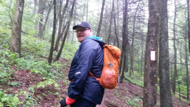 My ten pound pack.  The second day was cold and wet.