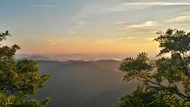 The sunset from standing Indian Mountain