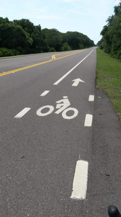 The bike lane along A1A South and part of the bike course.