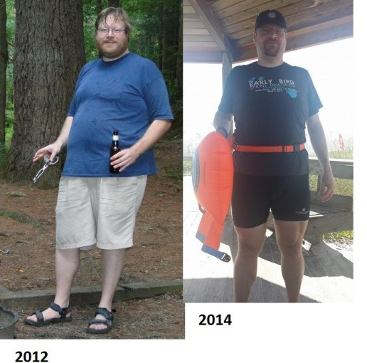 Early 2011 on the left and my recent vacation photo on the right.  Not sure percentage on left but I now am at 30%.