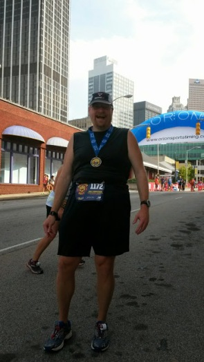 My fourth marathon of the year finished. Not my best day, but I finished.