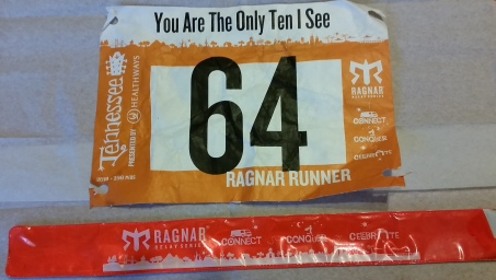 Race Bib and Slap bracelet that we exchanged from Friday Morning to Saturday Night.