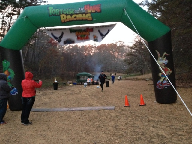 I made sure to run all the way to the finish line!