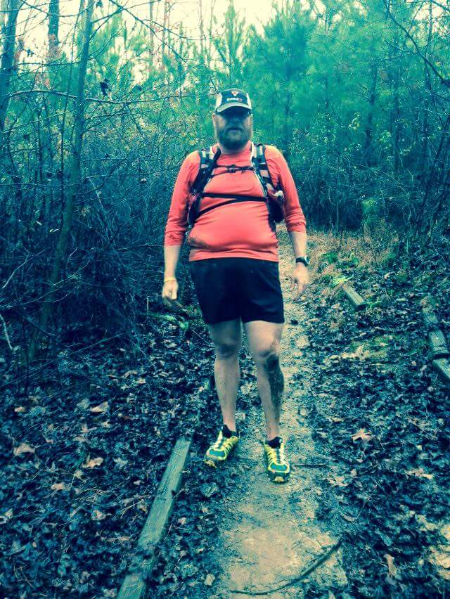 The Yeti Spaghetti trail marathon and fun run.  My second trail run with an unofficial race on super muddy slick trails with tons of water crossings.