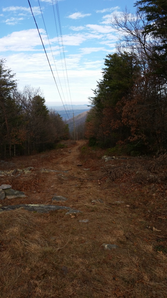 After the climb is a steep 1200 foot drop over two miles.  Great way to start a run.