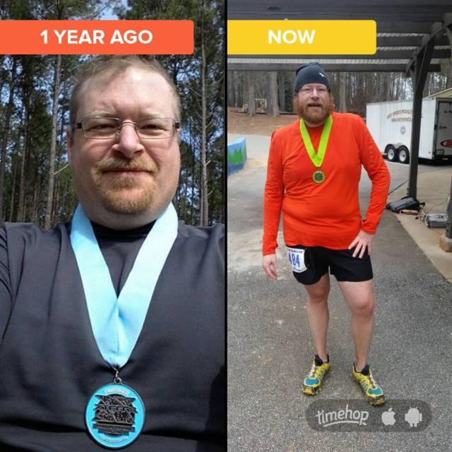 Last year I finished the half marathon in 3:45, this year I hit the half marathon at 3:34 and went on to finish the marathon in 7:24.