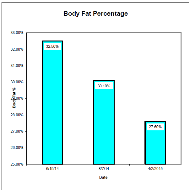 Body Fat Percentage progression.