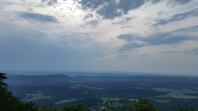 A view from John's Mountain on the Pinhoti trail in Georgia.  This is from one of my training runs for my 50 mile race.