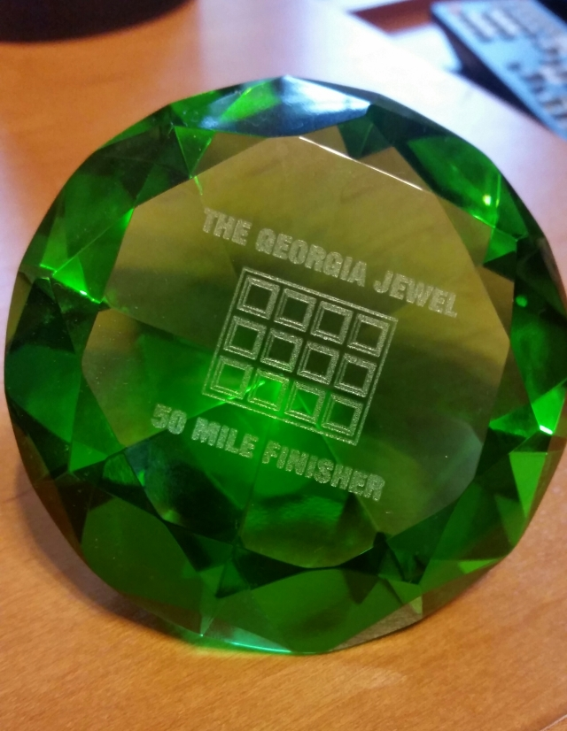 After running a tough and challenging 55 miles I was rewarded with this amazing finisher award.