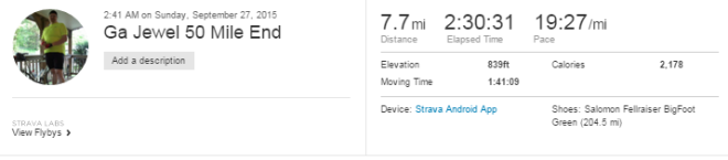 I had to record the last 7 miles with my GPS on my mobile because I did not set my watch to the right battery setting.